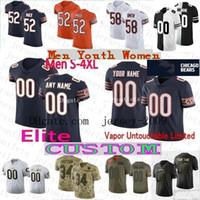 Wholesale elite football jerseys for sale - Group buy Custom Bears Mens Women Youth Jerseys Elite Khalil Mack Walter Payton Tarik Cohen David Montgomery Long Akiem Hicks Roquan Smith