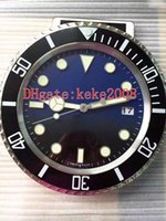 Excellent good wall clock 126660 126600 116660 34CM x 5CM 3kg Stainless Steel Quartz Chronograph Blue Luminescent Home Decoration clock