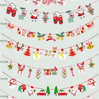 Wholesale home decors stores resale online - Christmas Pull Xmas Bunting Banners Flags Christmas Decoration For Home Outdoor Garden Store Party Xmas Banner Flag Pulling Decor EEC2712