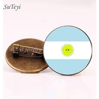Wholesale south american countries for sale - Group buy Suteyi Flag Glass Argentina Paraguay Brazil Bolivia Women Brooches Brooch South Badges Dome Gift Pins American Jewelry Countries bbyfxu