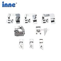 Wholesale sewing machines janome resale online - INNE Sewing Machine Accessories Presser Foot Rolled Hem Press Feet Set For Brother Singer Janome Babylock Household Tool