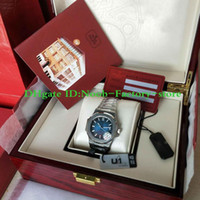 U1 Factory New Mens 324 Automatic Movement 40mm Watch Blue Dial Classic 5711 1A Watches Transparent Back Diving Wristwatches Original Box