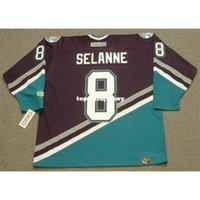 Wholesale anaheim mighty ducks jersey selanne resale online - Mens TEEMU SELANNE Anaheim Mighty Ducks CCM Away Cheap Retro Hockey Jersey