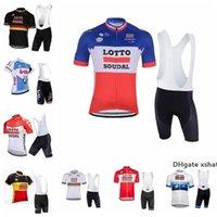 Wholesale lotto men cycling jersey resale online - 2020 Lotto Cycling Jersey Men Short Sleeves Cycling Clothing Sportswear Outdoor Mtb Racing Bike Bib Shorts Set Ropa Ciclismo K0407