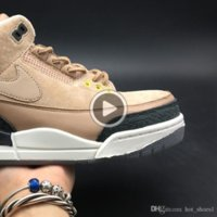 Wholesale justin boots for sale - Group buy ZWh75 III s Beige Justin Bio Timberlake s AV6683 Air Brown Men Basketball Sneakers Good Quality Trainers sports shoes basketball spor