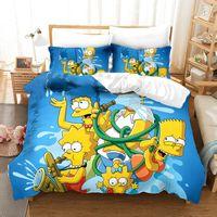 Wholesale 3d bedding set for kids for sale - Group buy 3D The Simpson Bedding Set Funny Cartoon Anima Simpson Duvet Cover Set for kids Pillowcases Children Bed linens Comforter Cover C1020