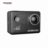 Wholesale soocoo resale online - SOOCOO C100 K Wifi Action Sports Camera Built in Gyro with GPS Extension GPS Model not include ultra HD MP screen HDMI