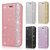 Wholesale iphone diamond pouch for sale – best Bling Diamond Magnetic Leather Wallet Case For Iphone Mini Pro MAX XR XS MAX X Flip Cover Glitter Closure Sparkle Suck Purse