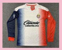 Wholesale chivas uniforms resale online - long sleeve america chivas jersey soccer jersey A PULIDO LOPEZ BRIZUEL camiseta football jersey longsleeve chivas shirt uniforms