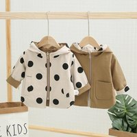 Wholesale kids winter sport wear for sale - Group buy Spring Autumn Girls casual Thick Jackets Double Sided Letter Sport Hoodied Coats Kids Clothing worn on both sides C1012