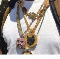 Wholesale golf pendant resale online - Golf Wang Tyler The Creater Weird big front teeth pendant hip hop rapper DJ necklace accessory