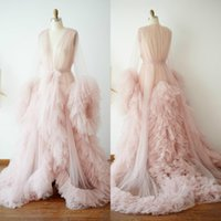 Wholesale women nude photos for sale - Group buy Pink Tulle Maternity Dress Photo Shoot Props Maternity Photography Tulle Gown Kimono Women Evening Robe Bathrobe Sleepware Nightgowns Bridal