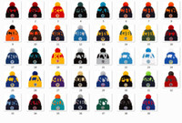 New Football Beanies 2020 Sideline Sport Pom Cuffed Knit Hat Knit Hat Pom Pom Cap 32 Teams Knits Mix And Match All Caps