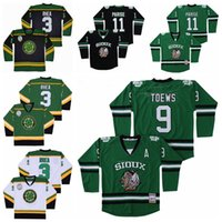 Discount blue xxxl jersey College North Dakota Fighting Sioux Jersey 9 Jonathan Toews 11 Zach Parise Hockey Ross The BOSS Rhea 3 ST John's Shamrocks Green Black