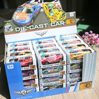 Wholesale hot wheels cars resale online - 5 Mini Alloy Car Model Diecasts Vehicle Toys Hot Plastic Wheels Box Pull Back Metal Auto Toy Car For Kids Boys Gifts LJ200930