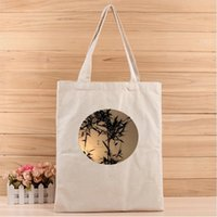 Wholesale birthday giveaways resale online - 1PC women creative Simple Fashion Canvas Tote Bags suits for Shopping Gift Wedding Birthday and Promotion Giveaways
