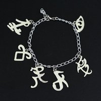 knochenstadt groihandel-The Mortal Instruments City of Bones Armbänder Inspired Angelic Energie Rune Symbole Armband Shadowh inpired Charms Schmuck