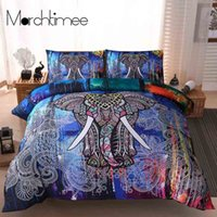 Wholesale floral bedding sets queen size for sale - Group buy Elephant Bedding Set Queen Size Duvet Cover Unicorn Lion Wolf Printed Lotus Flower Bed Cover Bohemian Mandala Floral Bedclothes