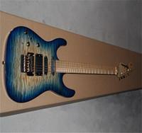 Wholesale guitar jackson resale online - new Left Hand Jackson SL2H Soloist Maple neck signature Blue ripples electric guitar
