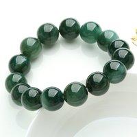 Wholesale myanmar jade resale online - Natural Myanmar for men jadeite mm beads bracelets women bracelet stone jade bangle