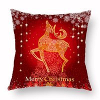 Wholesale christmas pillow resale online - Red Santa Claus Tree Christmas Cushion Cover Merry Christmas Decorations For Home Ornament Table Decor Gift New Year Pillow case KKA1515