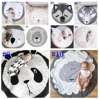 Wholesale baby floor games for sale - Group buy Baby Climbing Mat Stereoscopic Animal Carpet Children Room Decorative Floor Mats Baby Round Crawling Game Mats Kids Tent Carpet OWB2134
