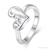 Wholesale masonic silver for sale - Group buy Heart Ring for Women Wedding Engagement Rings Fashion Korean Jewelry Brands Sterling Silver Masonic Silver Rings