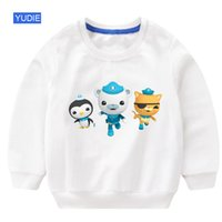 Wholesale animal hoodies for babies resale online - Pullpover Sweatshirt Tops Clothes Outfits Sweatshirt Boys Hoodie Kids Sweatshirts For boys Toddler Kids Baby Boy Animal Cartoon