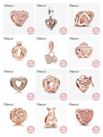 New Original Kangaroo freehand heart key lock Bead fit Pandora charms silver 925 Bracelet for women fashion jewelry rose gold