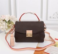 Wholesale women s bags resale online - 41581 CROISETTE BAG Compact Size for Essentials Long Wallet Removable Leather Tassel S Lock Crossbody Versatile as Handbag or Shoulder Bags