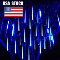 Christmas 30 50 80cm Meteor Shower Rain LED String Lights Waterproof Outdoor Year Decor Tree Party Decoration USA STOCK