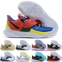 Wholesale basketball ny for sale - Group buy Top Kyries Low Mens Basketball Shoes Mens Irving Boots NY vs NY Atomic Pink Stone Blue BHM Sashiko Outdoor Sneakers Size
