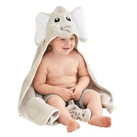 Wholesale girl toddler bathrobe for sale - Group buy Hooded Baby Towel Elephant Blanket Hoodie Blanket Cotton Bamboo Bathrobe Infant Toddler Baby Lovey Boys Girls Shower Gifts
