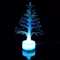 Wholesale christmas tree color changing led lights for sale - Group buy Mini Led Christmas Tree Night Light Color Changing Fiber Optical Light Usb Connection Lamp Festival Decor For Bedroom Shopping bbyDNX