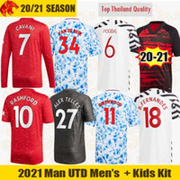 Wholesale 20 Manchester Soccer Jerseys United VAN DE BEEK Fans Player Version CAVANI FERNANDES Football Shirt Man Utd th Long Jersey Kids Kit