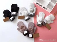 Wholesale women s fashion mittens resale online - Fashion Women S Brand Gloves For Winter And Autumn Cashmere Mittens Gloves With Lovely Fur Ball Outdoor Sport Warm Winter Gloves