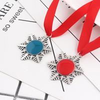Wholesale christmas santa key for sale - Group buy Christmas Decoration Magic Santa Claus Snowflake Key Chain Pendant Xmas Tree Ornaments Gifts DIY Necklace Jewelry DHF2563