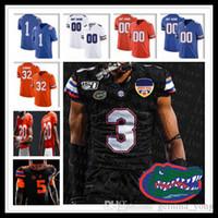 Custom 2021 Ncaa Florida Gators Jersey Football Kyle Trask Emory Jones Dameon Pierce Kadarius Toney Ventrell Miller Kyle Pitts Trevon Grimes