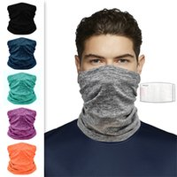 Wholesale thermal face mask for winter resale online - DHL Shipping Warmer Neck Gaiter Headwear Cold Weather Face Mask Winter Fleece Scarves Thick Thermal Windproof Bandana for Women Men OWA1886