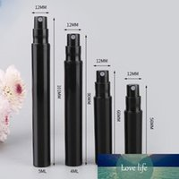 Wholesale plastic mini pump sprayers resale online - 2ml ml ml ml Mini Plastic Perfume Bottles Black Cosmetic Spray Bottles Mist Sprayer Pump for Travel