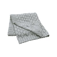 Wholesale boys quilt covers for sale - Group buy Baby Blankets Knitted Newborn Boys Girls Swaddle Wrap Blanket cm Kids Monthly Muslin Quilts Children Stroller Covers Y201009