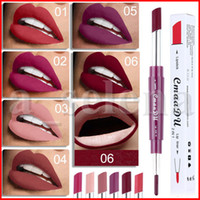Wholesale bright lipsticks resale online - CmaaDu Lipstick Lip Liner in Sexy Beauty Pigment Matte Lipstick Pencils Moisturizer Lips Makeup Kit Colors