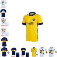 Wholesale soccer kit boca juniors resale online - 2020 Boca Juniors Soccer Jerseys DE ROSSI TEVEZ BOCA Camiseta CARLITOS MARADONA Football Shirt ABILA boca jrs kits kids