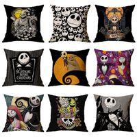 Wholesale pillow slips for sale - Group buy 107 Designs Halloween Pillowcases Witch Pumpkin Design Cushion Pillow Cover Square Pillow Case Pillow Slip Halloween Decoration EEC2696