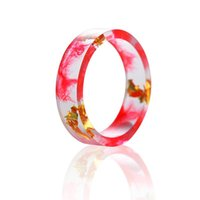 Wholesale inspired rings for sale - Group buy Inspire Resin Ring Jewelry with Handmade Gold Foil Paper Epoxy Resin Ring for Women Christmas Gift Size6