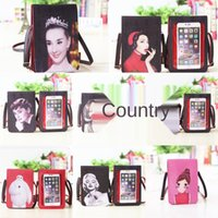 Wholesale special cell phone online – custom Special offer new print shoulder Phone ing inkjet touch screen mobile phone Korean style fashion toothpick print shoulder bag women s bag Gs
