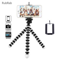 Wholesale sport camera holders resale online - Mini Octopus Tripod Holder Mobile Phone Tripod For phone Universal Smartphone Sports Camera Stand With Clip