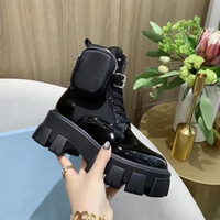 Women Designers Rois Boots Ankle Nylon Combat Boot and Martin Boots Designers winter Martin ankle nylon pouch attached with box