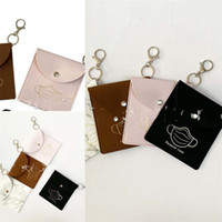 Wholesale Storage Bag Mask Bags Masks Case Face Holder Leather Snap Button Square Marbling Dustproof Hygiene PU dq F2