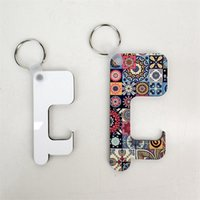 Wholesale blank key rings for sale - Group buy Sublimation Keychain Germ Free Key Chain Non contact Door Handle Keychain Wooden DIY Blank Key Rings Safety Touchless Door Opener HHB2259